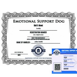 Emotional Support Dog Registration Basic