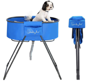 Standing Boat Elevated Folding Pet Bath Tub and Wash Station